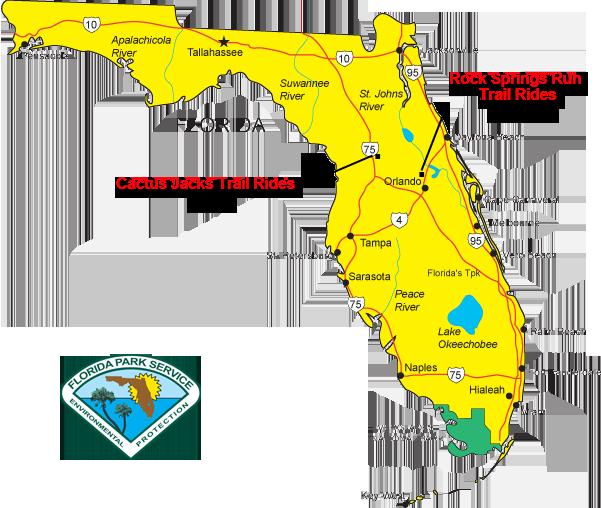 horseback trail riding locations map